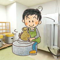 陶芸など部屋を利用する