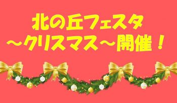 北の丘フェスタ~クリスマス~開催!